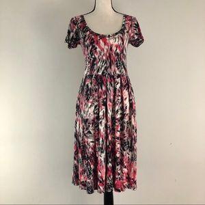 Anthropologie Sparrow Midi Print Sweater Dress
